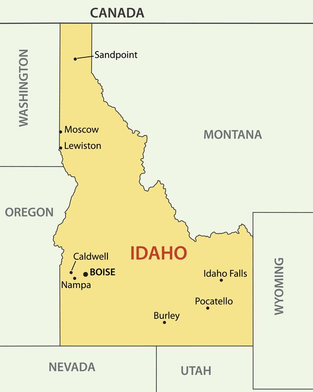 Boise ID City Map Porta Potty Rentals